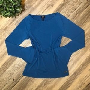 NEW Jones NY Long Bell Sleeve Scoop Neck Blouse
